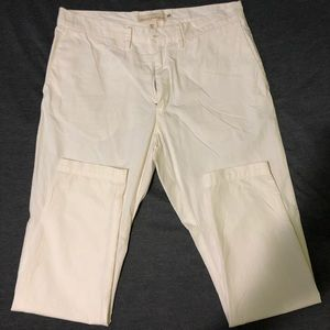 H&M White L.O.G.G. Chinos Size 34